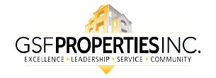 Logo for GSF Properties, Inc. (an AppFolio Property Management Software customer).