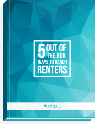 eBook cover, titled: 5 Out of the Box Ways to Reach Renters.