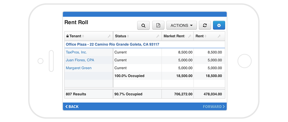 Screenshot of AppFolio mobile app for property managers, representing ability to work from anywhere.
