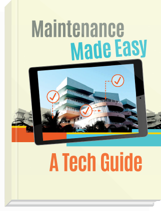 eBook cover, titled: Maintenance Made Easy: A Tech Guide.