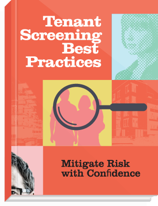 eBook cover, titled: Tenant Screening Best Practices.